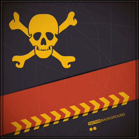 Background with skull Stock Vector - 19648574