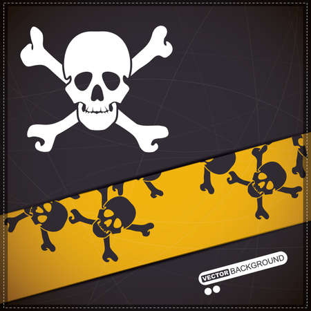 Background with skull Stock Vector - 19648568