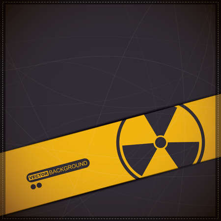 Background with radiation symbol Stock Vector - 19649085
