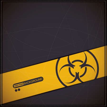 infectious waste: Background with biohazard symbol