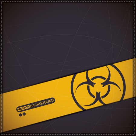 riesgo biologico: Fondo con el símbolo de riesgo biológico Vectores