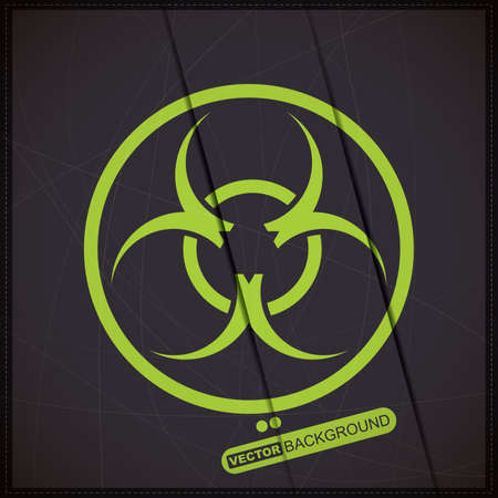 harmful to the environment: Background with biohazard symbol