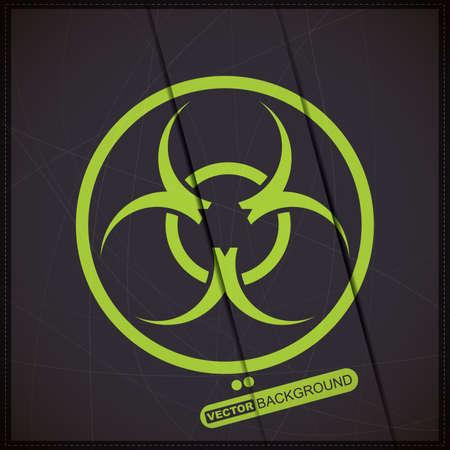 Background with biohazard symbol Stock Vector - 19648362