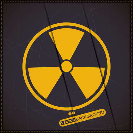 warning against a white background: Background with radiation symbol