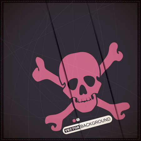 Background with pink skull Stock Vector - 19648414