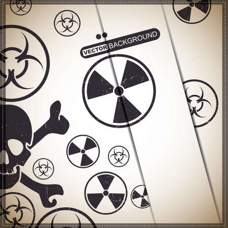 Background with skull and radiation, biohazard symbol Stock Vector - 19649116