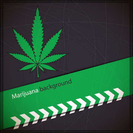 Background with Cannabis leaf Vector