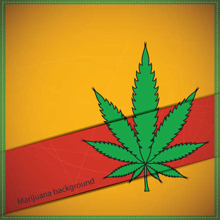 Background with Cannabis leaf Stock Vector - 19648315