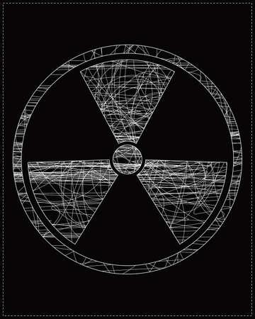 White radiation symbol Stock Vector - 20183977