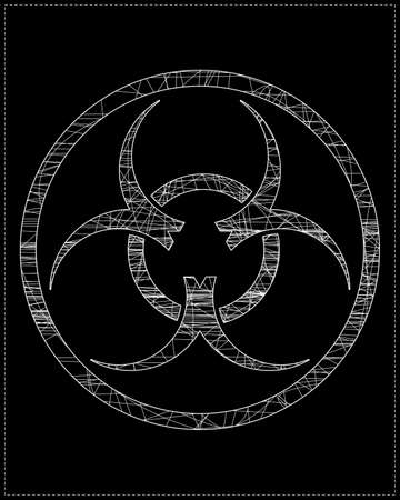 White biohazard symbol Vector