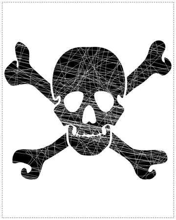 Black skull Stock Vector - 20183970