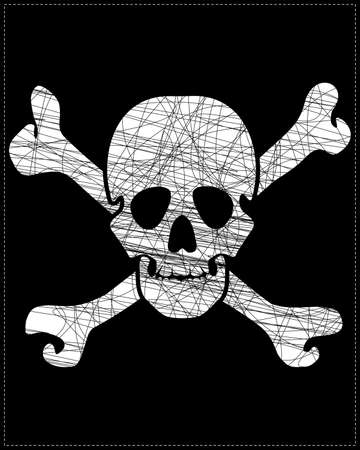 white skull Stock Vector - 20183969
