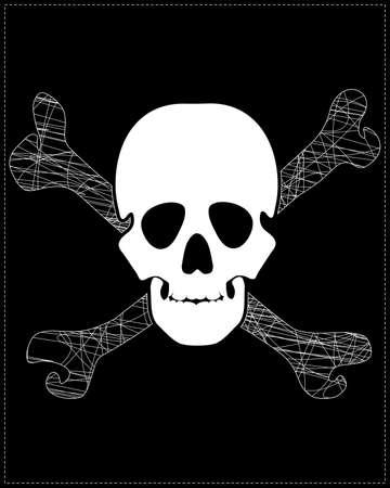 white skull Stock Vector - 20183968