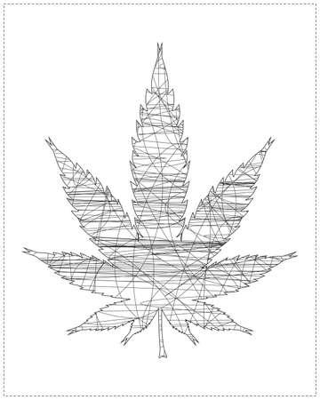 cannabis leaf Stock Vector - 20183986