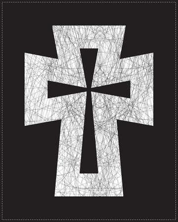 White cross Stock Vector - 20184461