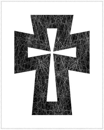 celtic cross: Black cross
