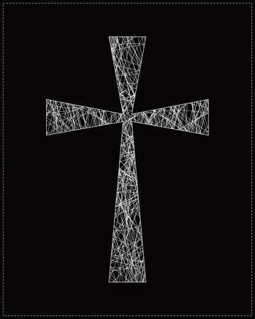 White cross Vector