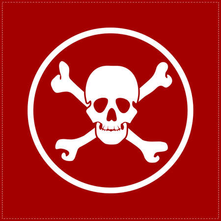 skull on red background Vector