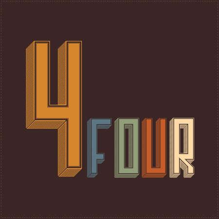 cijfer vier: Number four