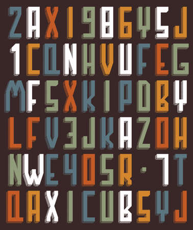Background with alphabet Vector