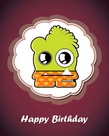 Greeting card with monster Stock Vector - 20223214