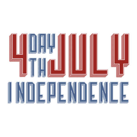 Independence Day of July Vector