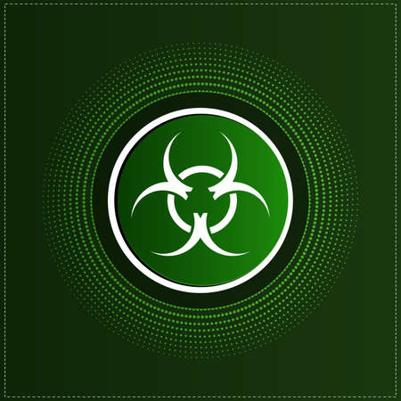 Button with biohazard symbol Stock Vector - 20744397