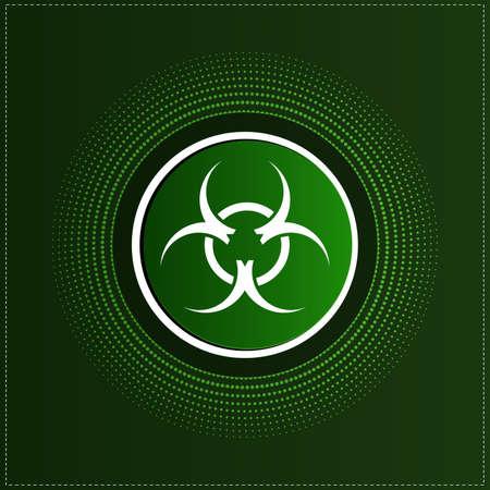 bio safety: Button with biohazard symbol