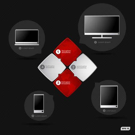 informatics: Infographics options banners informatics technologies