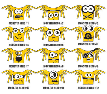 Yellow monsters hero Stock Vector - 20869396