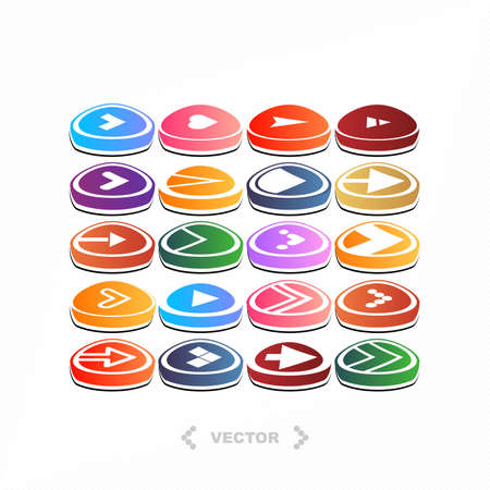 Set of different colorful arrow icons  vector  Vector
