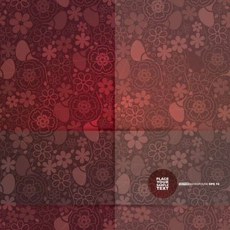 classy background: Decorative floral card  vector