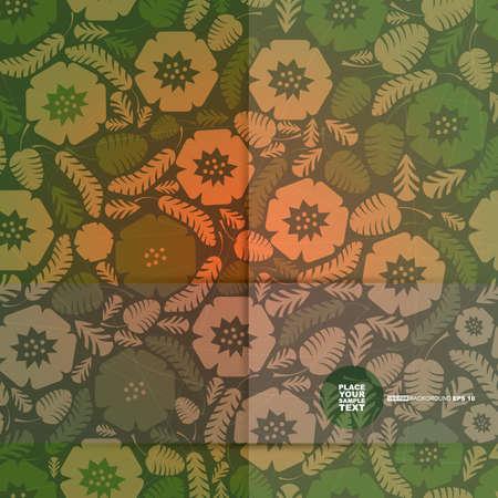 damask background: Decorative floral card  vector