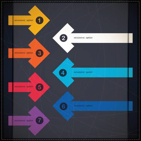 Infographics options banner with arrows Vector