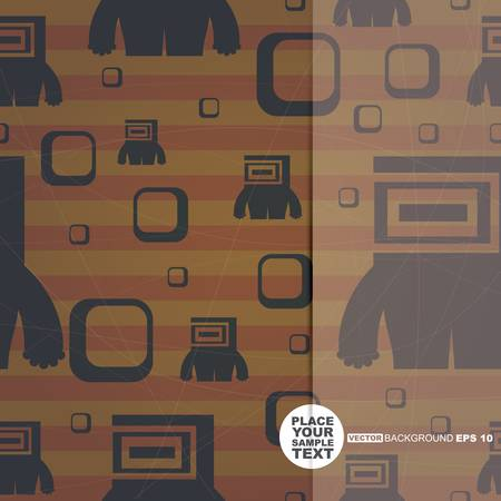 Retro background with monsters and place for text  Seamless pattern  vector Vector