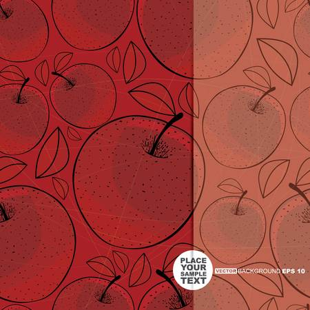 ascorbic: Card with apple