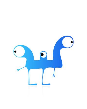 Cute monster isolated on white  vector Stock Vector - 21677222