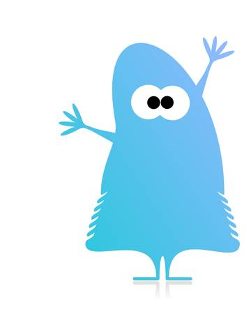 Cute monster isolated on white  vector Vector