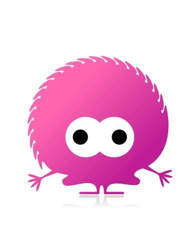 Cute monster isolated on white  vector Stock Vector - 21677330
