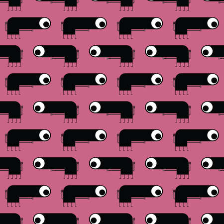 Cute monsters - seamless pattern Stock Vector - 21869488