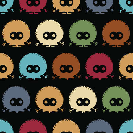 Cute monsters - seamless pattern Stock Vector - 21869549