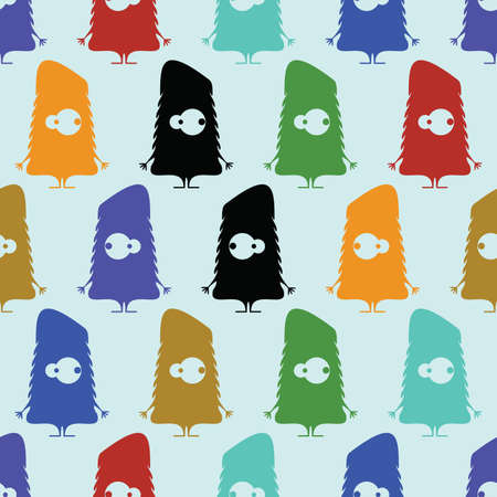 Cute monsters - seamless pattern Stock Vector - 21869552