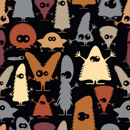 Cute monsters - seamless pattern Stock Vector - 21869557
