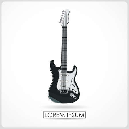 fret: guitar isolated on white  vector