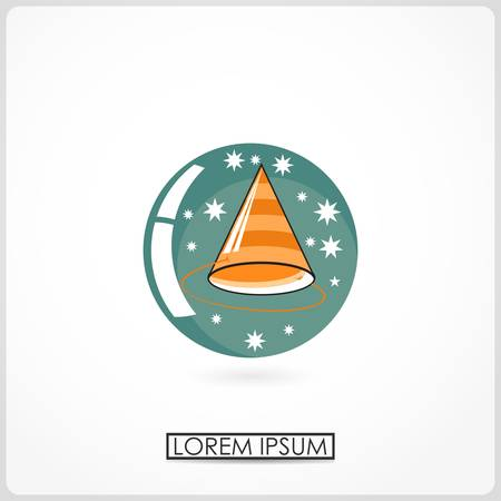 cartoon new: Cartoon new year cap isolated on white  vector