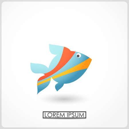 vector fish: Cartoon fish isolated on white  vector