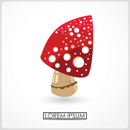 Mushroom isolated on white  vector Stock Vector - 21959026