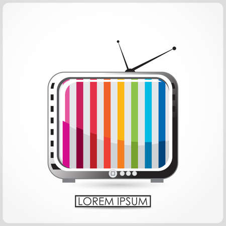 Retro TV isolated on white  vector Vector