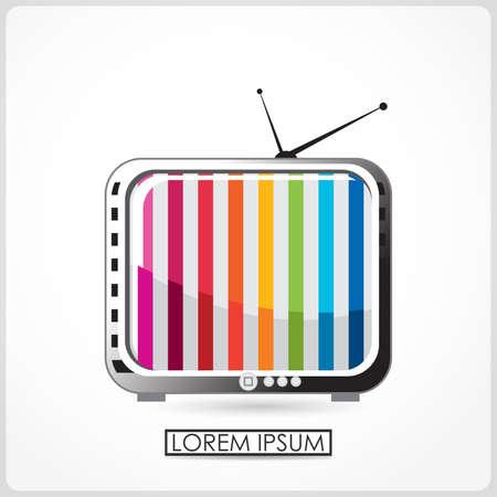 Retro TV isolated on white  vector Stock Vector - 21959043