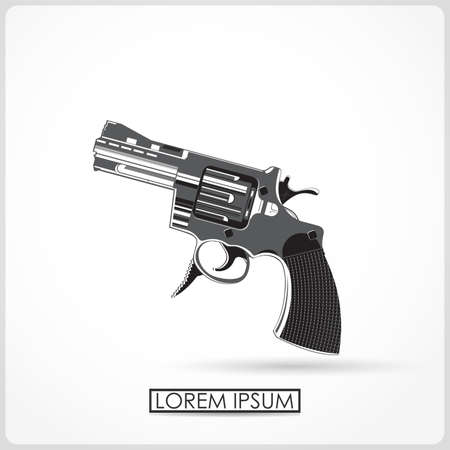Revolver isolated on white  vector Vector